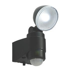 Saxby Laryn LED Floodlight & PIR Black 1 x 2W Daylight ...