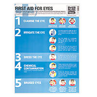 First Aid for Eyes Poster 594 x 420mm