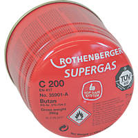 Rothenberger Pierceable Butane Cartridge 190g