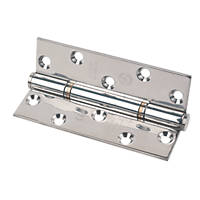 Eclipse Polished Stainless Steel Grade 14 Fire Rated Insignia Thrust Bearing Hinge 127 x 76mm 2 Pack