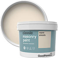 GoodHome Smooth Masonry Paint Magnolia 10Ltr