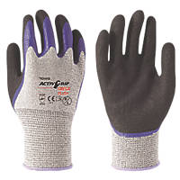 Towa ActivGrip Omega Plus Cut 5 Gloves Black / Purple / Grey X Large