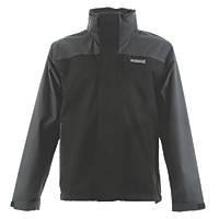 "DeWalt Storm Waterproof Jacket Black / Grey Extra Large 45-47"" Chest"