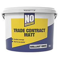 No Nonsense Contract Matt Emulsion Brilliant White 10Ltr