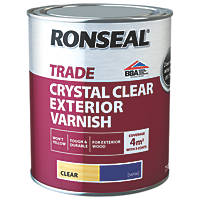 Ronseal Exterior Varnish Satin Clear 750ml