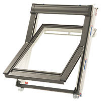 Keylite  P05 Manual Centre-Pivot Polar White uPVC Roof Window Clear 780 x 1180mm
