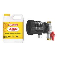 Sentinel Eliminator Vortex250 Central Heating System Filter & Chemical Pack 22mm