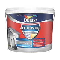 Dulux Weathershield Textured Masonry Paint Concrete Grey 10Ltr