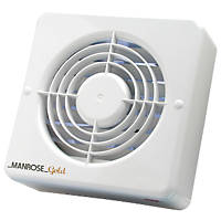Manrose MG150BH 25W Kitchen Extractor Fan with Humidistat White 240V