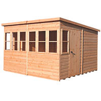 Shire Sunpent 10' x 10' (Nominal) Pent Shiplap Timber Shed