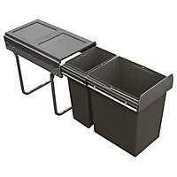 Hafele  Kitchen Cabinet Pull-Out Bin Grey 30Ltr