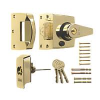 ERA 1830-31 Double-Locking Nightlatch Brass 40mm Backset