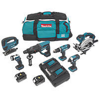 Makita DLX6068PT 18V 5.0Ah Li-Ion LXT Cordless 6-Piece Power Tool Kit
