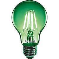 Sylvania Helios Chroma ES A60 Green LED Light Bulb 4W