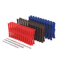 Rawlplug Mixed Uno & Drill Bits 275 Pcs