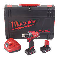 Milwaukee M12 FPD-602X FUEL 12V 6.0Ah Li-Ion RedLithium Brushless Cordless Combi Drill