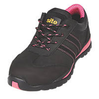 Site Dorain  Ladies Safety Trainers Black Size 8