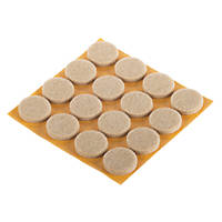Fix-O-Moll Natural Round Self-Adhesive Parquet Gliders 22 x 22mm 16 Pack