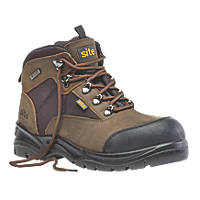 Site Onyx   Safety Boots Brown Size 8