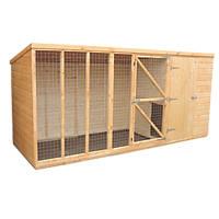 Shire Sanda Dog Kennel with Run 12' x 4' (Nominal)