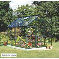 Halls Popular Framed Greenhouse Green 6' x 8'