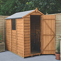 Forest  4' x 6' (Nominal) Apex Overlap Timber Shed with Assembly