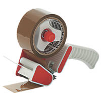 Diall Hand-Held Tape Dispenser Brown 50mm