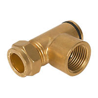 Brass Gas Hob Restrictor Elbow 15mm x 56mm
