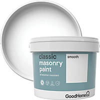 GoodHome Smooth Masonry Paint Pure Brilliant White 10Ltr