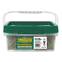 Timbadeck Double-Countersunk Carbon Steel Decking Screws 4.5 x 65mm 1300 Pack
