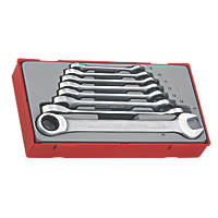 Teng Tools Combination Ratchet Spanner Set in Tray 8 Pieces