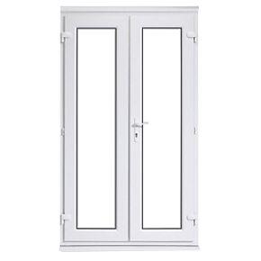 Euramax upvc french door white 1190 x 2090mm doors for White upvc french doors exterior