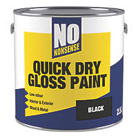 No Nonsense Water-Based Gloss Paint  Black 2.5Ltr