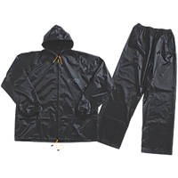 "JCB Essential Rain Suit Black X Large 46-48"" Chest"