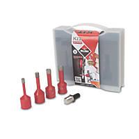 Rubi Dry Cut Diamond Tile Drill Bit Set 5 Pcs