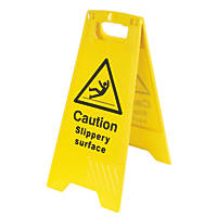 Danger Slippery Surface A-Frame Safety Sign 600 x 290mm