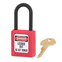Master Lock Safety Lock-Off Thermoplastic Padlock Red 20 x 38mm
