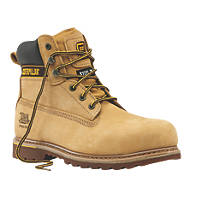 CAT Holton   Safety Boots Honey Size 7