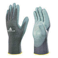 Delta Plus VE702PG PU-Coated General Handling Palm Gloves Grey Large 12 Pack