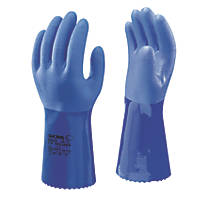 Showa 660 Chemical Hazard Gauntlets Blue X Large