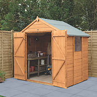 Forest Delamere 7' x 5' (Nominal) Apex Shiplap Timber Shed with Assembly