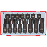 Teng Tools TT9015HX Mixed Impact Hex Socket Set 15 Pieces