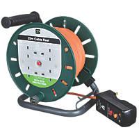 Masterplug LDCS2510BQ/4RCD-XD 10A 4-Gang 25m Cable Reel 240V