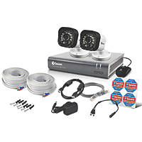 Swann SWDVK-416002-UK 4-Channel Security System & 2 Cameras 5 Pcs