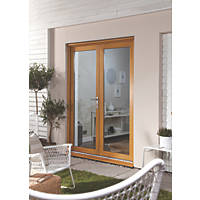 Jeld-Wen  Unfinished Golden Oak Wooden French Door Set 2100 x 1500mm
