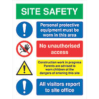 Site Safety Signs 800 x 600mm