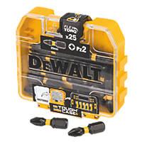 DeWalt Impact Torsion Screwdriver Bits PZ2 x 25mm 25 Pack
