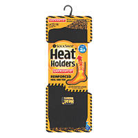 SockShop Heat Holders Reinforced Socks Black Size 12-14