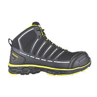 Toe Guard Jumper   Safety Trainer Boots Black / Yellow Size 7