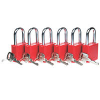 Lockout Safety Padlocks 6 Pack